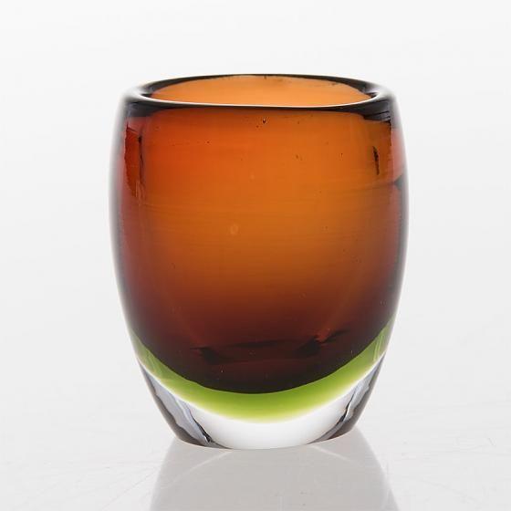 TAPIO WIRKKALA - Glass vase 3570 (h. 7 cm) for Iittala, Finland. In the production 1954-1955.