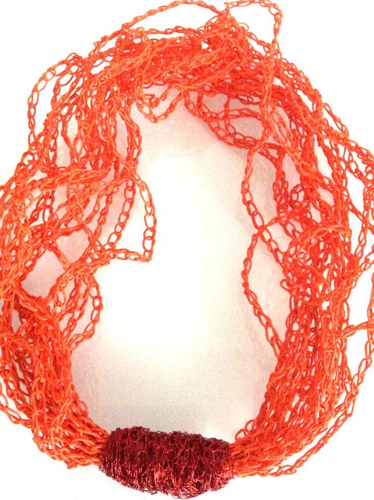 Papierkette orange/rot von FilzWollLust auf Etsy