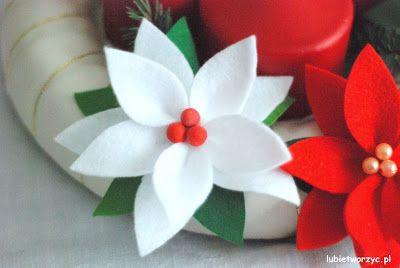 Gwiazda betlejemska wykonana z filcu (instrukcja już na Lubię Tworzyć)!!!  #gwiazda #gwiazdka #star #poinsecja #gwiazdabetlejemska #poinsettia #kwiat #kwiatek #flower #święta #bożenarodzenie #christmas #christmasideas #dekoracje #decorations #diy #zróbtosam #handmade #tutorial #poradnik #jakzrobić #howto #sposóbwykonania #instrukcja #instruction #lubietworzyc #craft #carfts #felt #filc #zfilcu