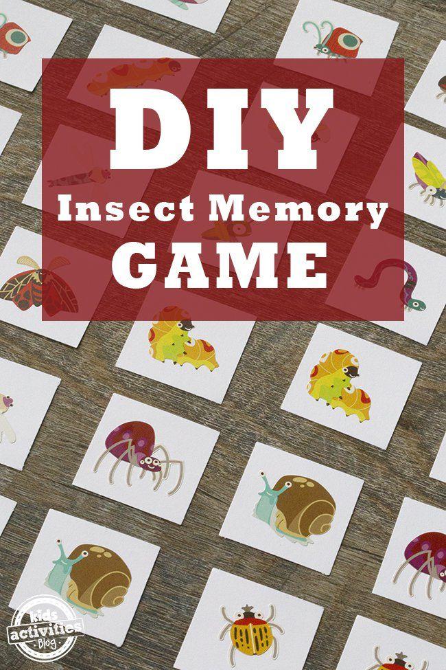 DIY Insect Memory Game