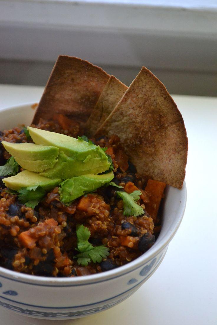 Vegan Sweet Potato Quinoa Chili - do I dare?