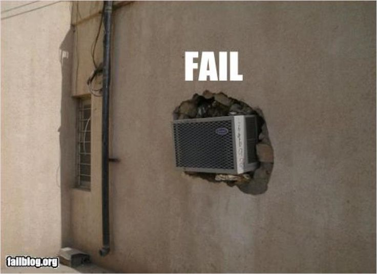 AC fail; wow, check out this install!