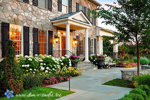 Ландшафтный дизайн перед домом | Частный Дом