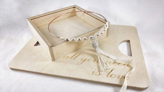 Rustic Stefana / Macrame Wedding Crowns / Orthodox by LakaLuka
