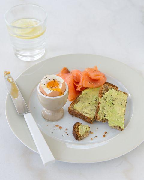Boiled Egg with Salmon & Avocado Toast