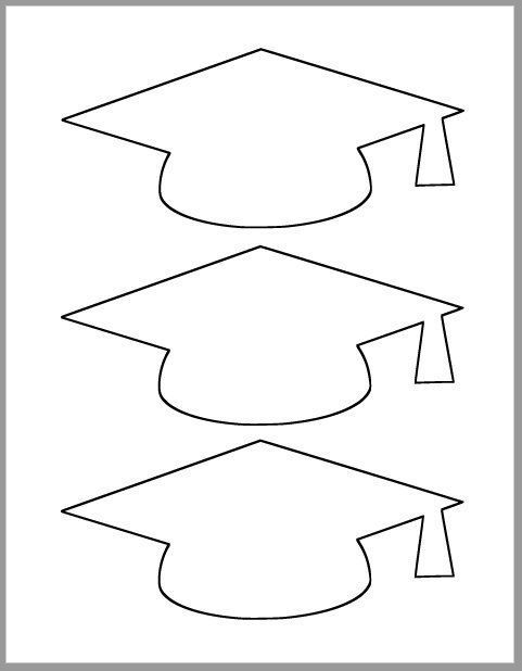 Graduation Cap Template-Printable Template-Grade Party Decor-Graduation Advice Card-Graduation Cutout-Large Degree Caps-DIY Party Decor # Graduation ...