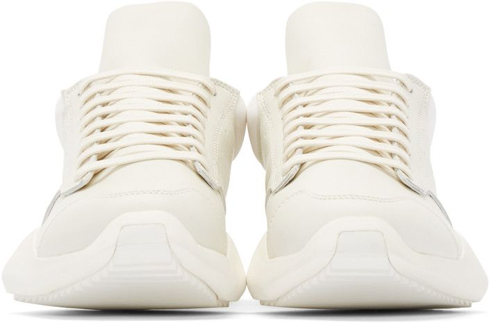 Rick Owens - White Leather adidas by Rick Owens Sneakers