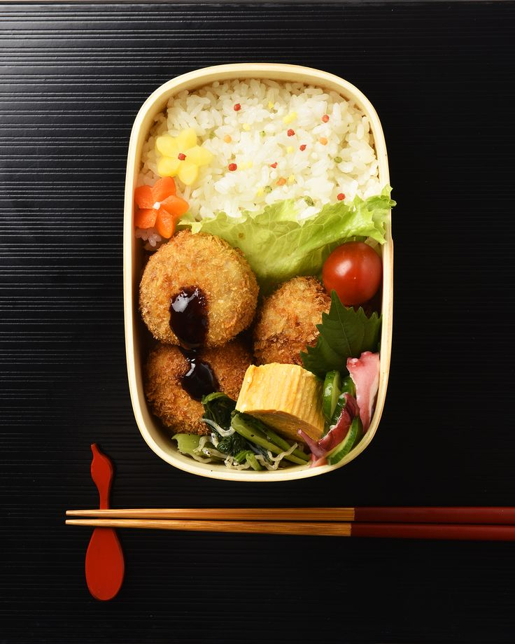 里芋コロッケ弁当 / Satoimo Croquettes Bento お弁当を作ったら #edit_jp で投稿してね!