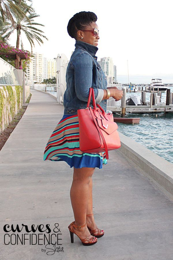 Curves and Confidence | A Miami Style Blogger: Weekend Wear: Diagonal Stripes (Part 2)