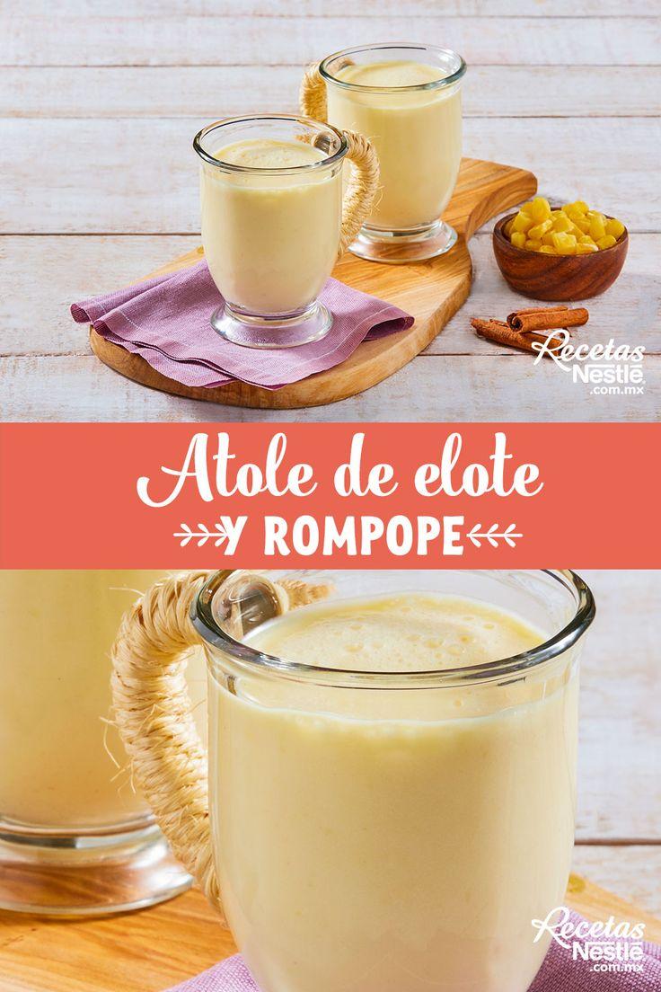 Atole de elote y rompope - Calculating Infinity Juice Drinks, Fun Drinks, Atole Recipe, Coconut Flan, Mexican Food Recipes, Ethnic Recipes, Fat Foods, Deli, Food Videos