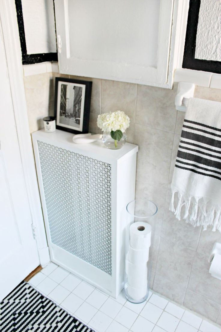 Radiator under kitchen cabinet - Shannon Claire Diy How To Build A Radiator Cover