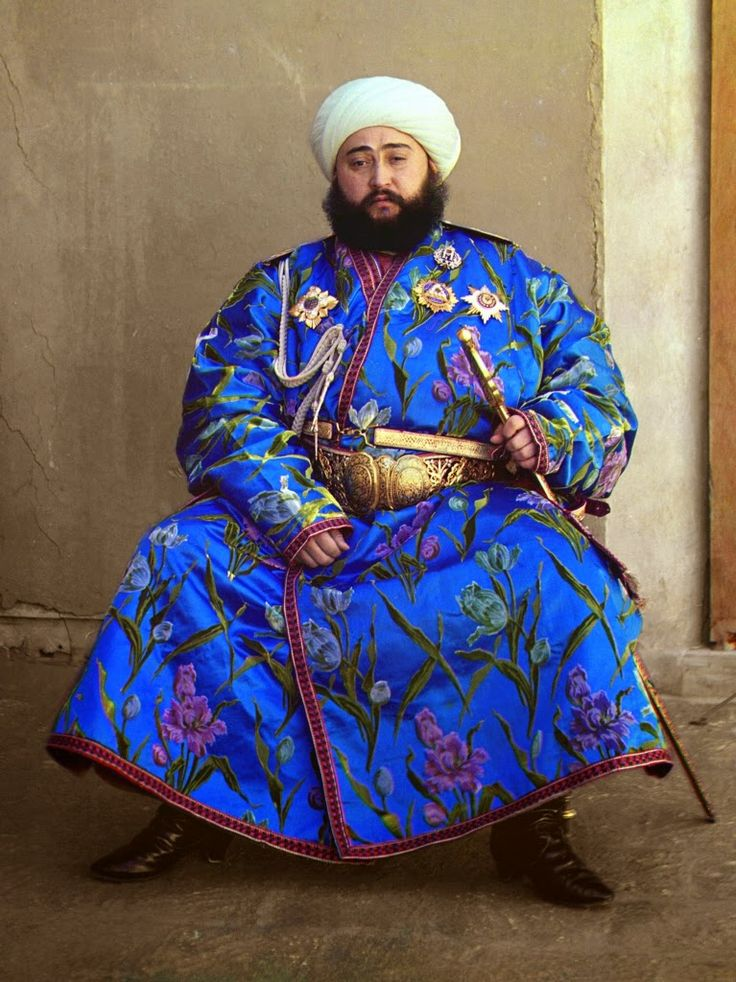 Local fashion: Traditional costume of the republics of ...