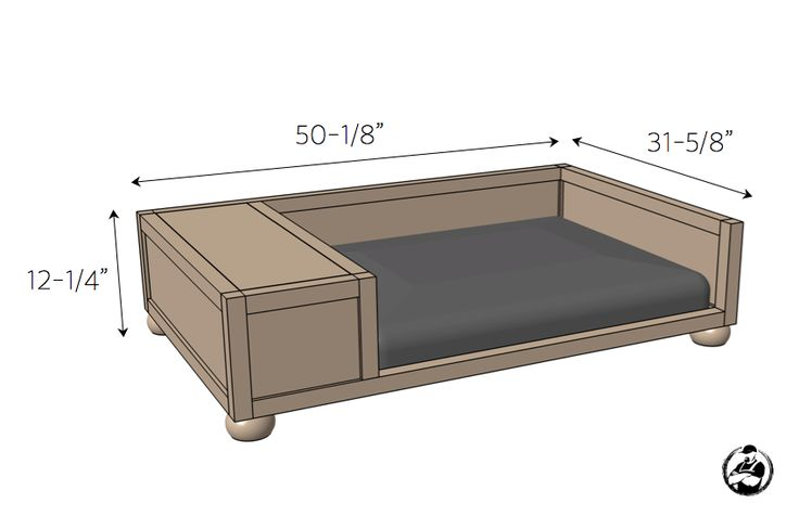Large Dog Bed Plans - Dimensions