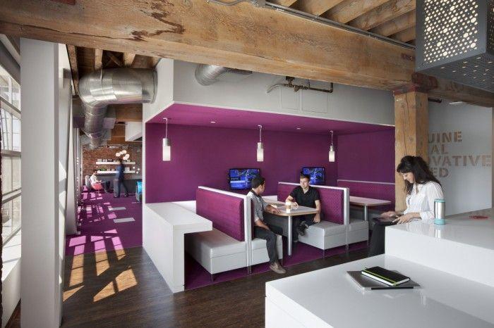 Adobes 410 Townsend San Francisco Offices / Valerio Dewalt Train Associates #purple #workhappy