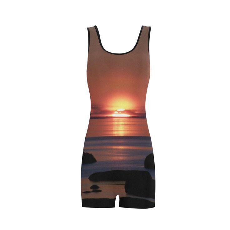Shockwave Sunset Classic One Piece Swimwear.