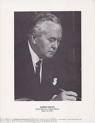 Harold Wilson Prime Minister Britain Vintage Portrait Gallery Poster Photo Print
