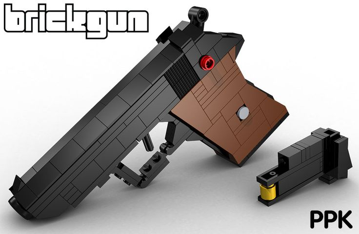 "BrickGun's 1:1 scale of the iconic ""Bond Gun"", the Walther PPK. Features a working hammer that can be ""cocked"", along with a working trigger that causes the hammer to fall with a ""click"" when it is pulled. It also features a removable magazine that contains a 7.65mm round. Kits and instructions will be available for sale soon on www.brickgun.com"