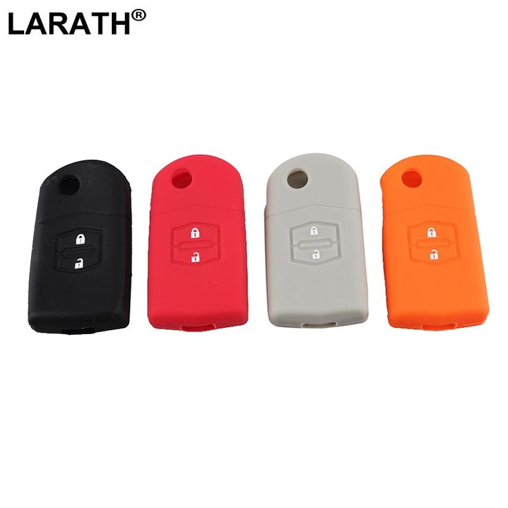 LARATH 2 Buttons Silicone Remote Fob Key Keyless Case Cover For 2004-2013 MAZDA 3 For 2006-2010 Mazda 5 For 2003-2010 Mazda 6