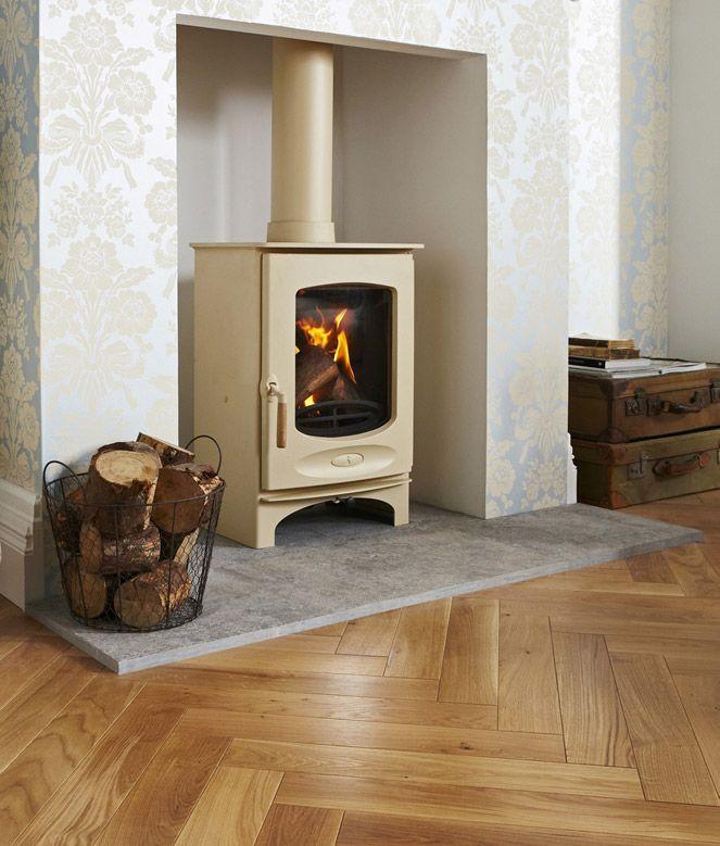 Charnwood C-Eight wood burning stove in cream #charnwood #woodburner