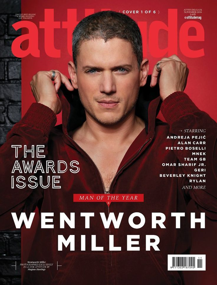 Attitude's Man of Year, supported by Virgin Holidays: Wentworth Miller | Attitude Magazine