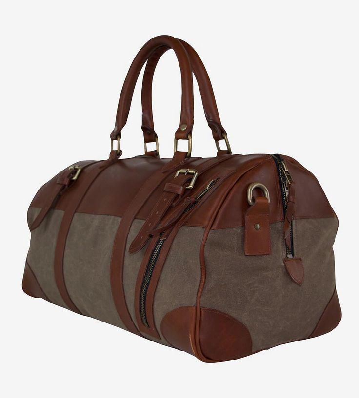 Charlie Waxed Canvas Amp Leather Duffel Bag Canvases Bags