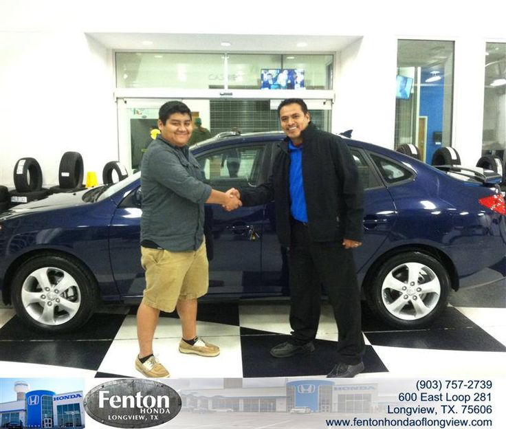 Congratulations to Jonathan Vazquez on your #Hyundai #Elantra purchase from Raul Hernandez at Fenton Honda of Longview! #NewCar