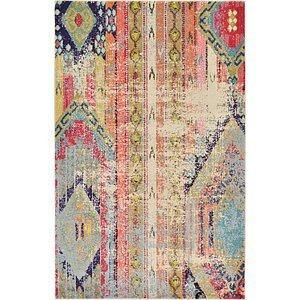 5x8 Pink Rugs Esalerugs Colorful Rugs Area Rugs Blue