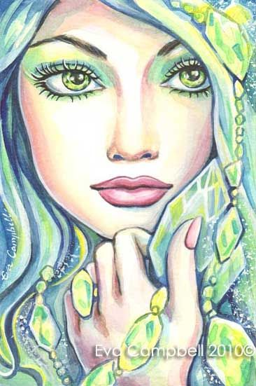 Fantasy Woman Face: Krystal Energy | EvitaWorks
