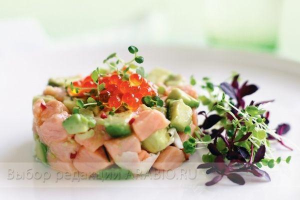 Салат авокадо красная рыба