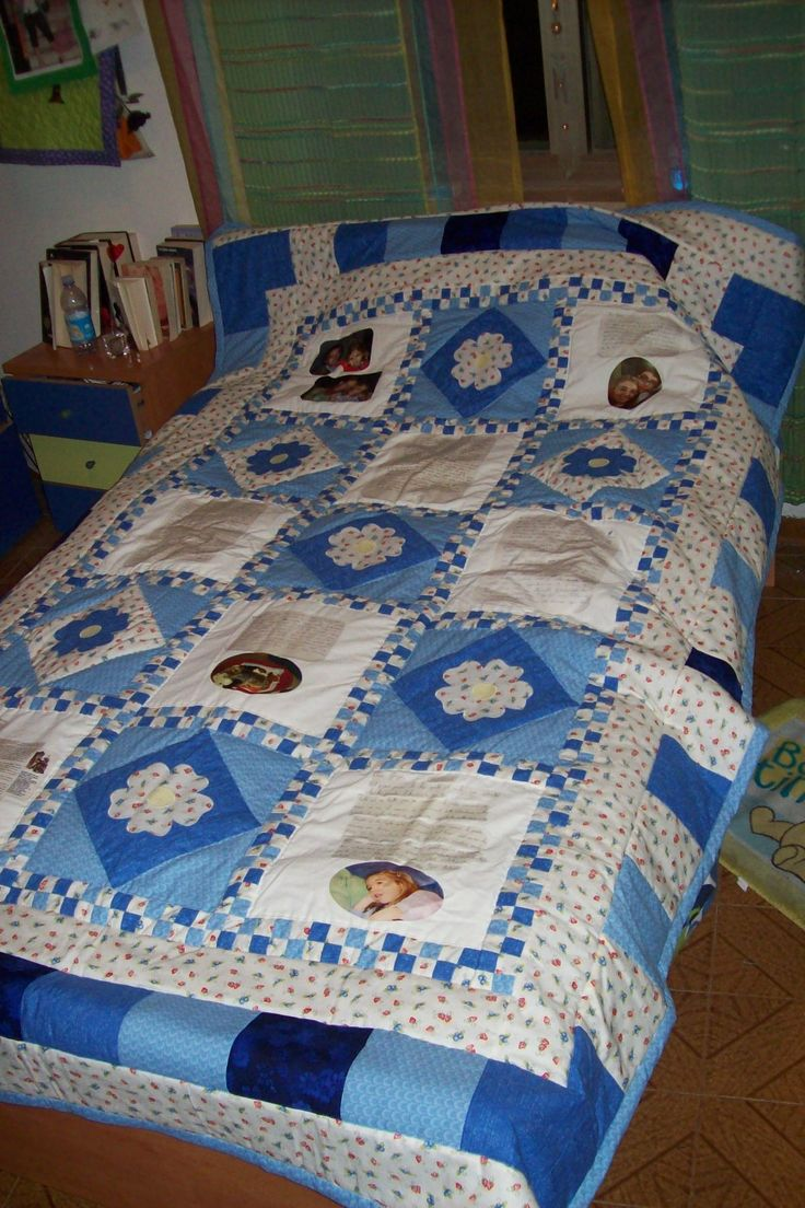A quilt with photo !!