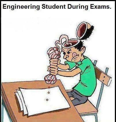 Engineering Student During Exam