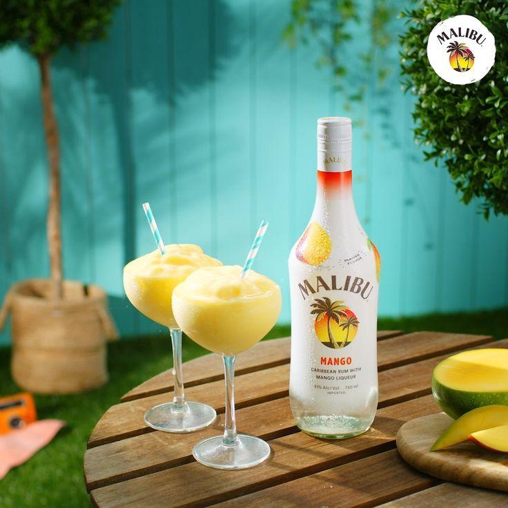 Malibu Mango Frozen Daiquiri | Frozen drinks alcohol, Rum ...