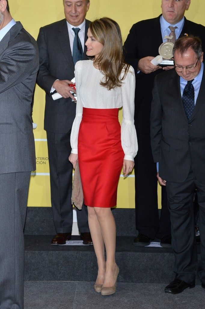 Queen Letizia of Spain Photos: Spanish Royals Deliver Acreditations for Honorary Ambassadors of the Brand 'Spain'