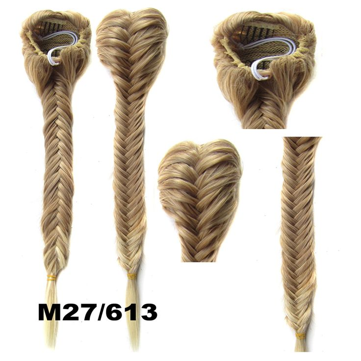 """New Style Heat Proof Synthetic Hair Braided Pony Tail Plaited Fishtail Fishbone Plait Drawstring Ponytail Hairpiece 22""""120g"""