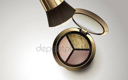 Descargar - Tricolor eyeshadow product — Ilustración de stock #135806398