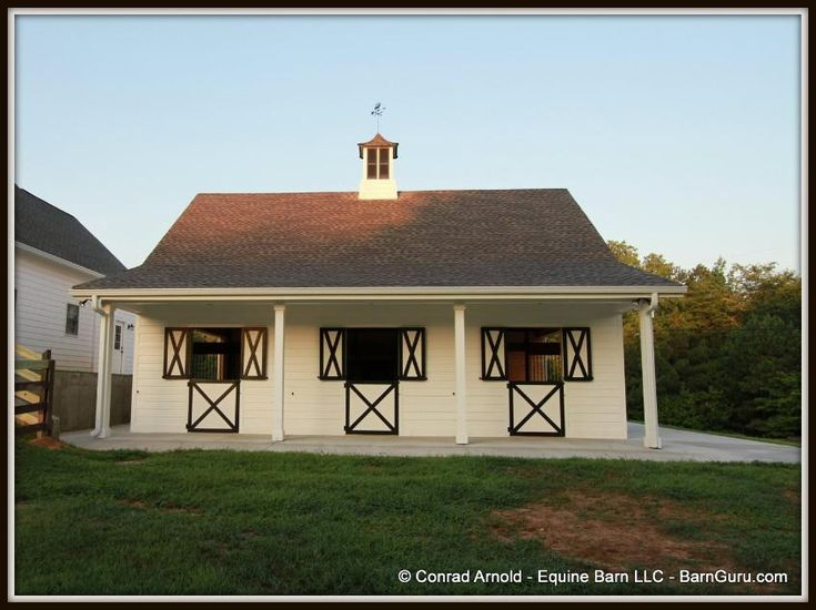 3 Stall Horse Barn Exterior Photos Barn Plans