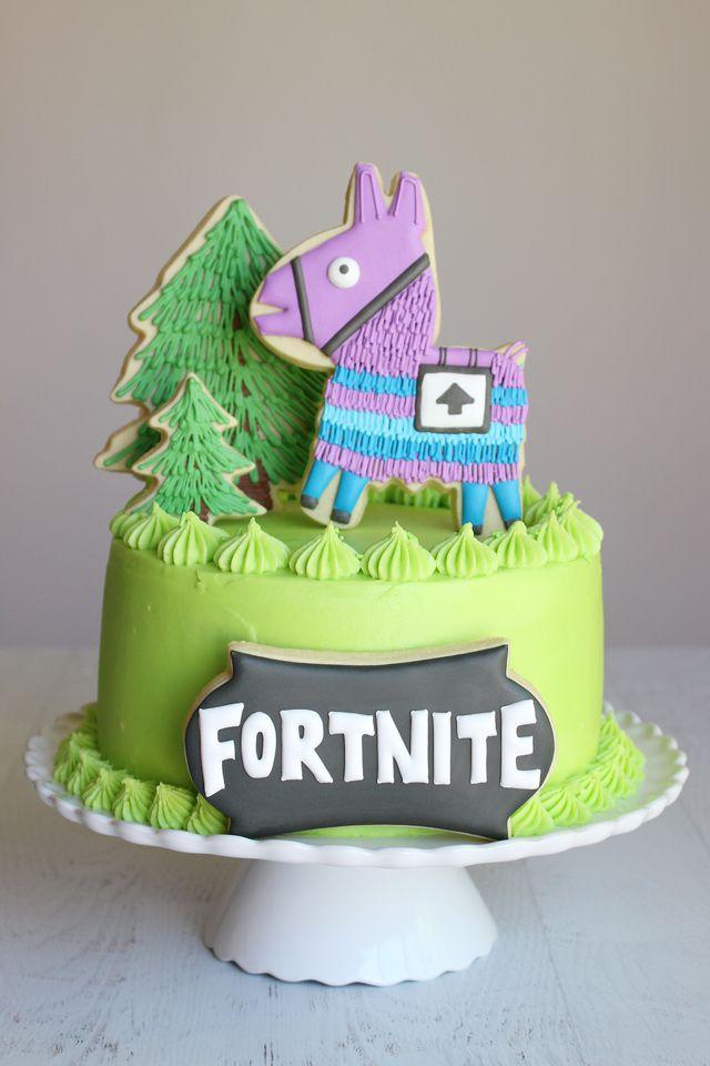 Sensational Fortnite Birthday Cake Cookies Cake Cookie Cake Birthday Funny Birthday Cards Online Inifodamsfinfo