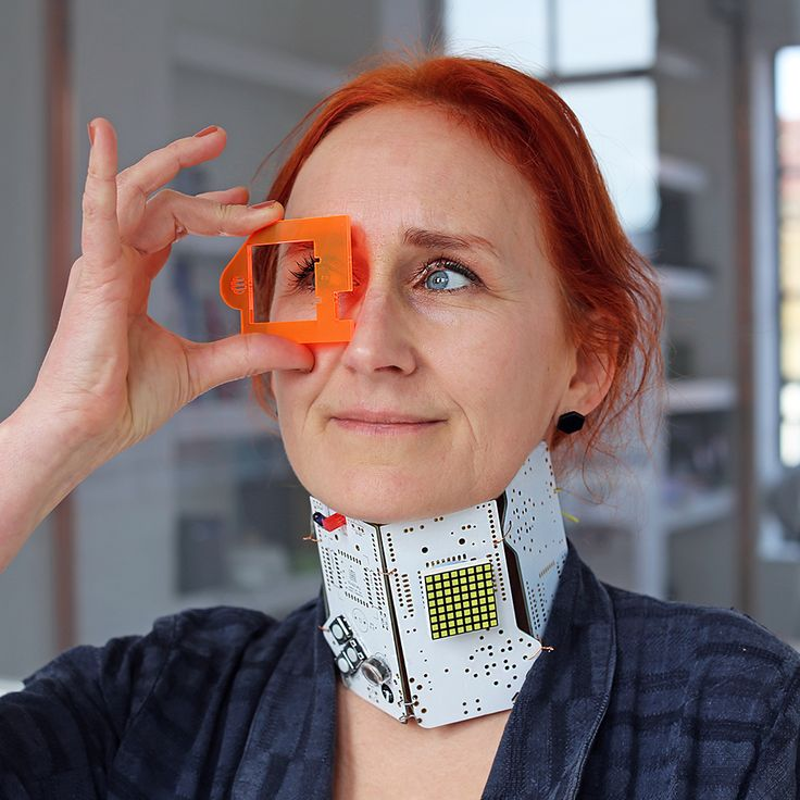 The Technology Will Save Us version of wearables! With our gorgeous creative and UX director, Panja.