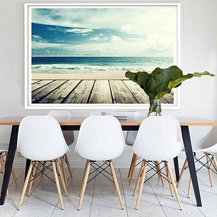 For coastal scenes to soothe your aesthetic opt for the photographic Malibu Framed Print from Hoxton Art House.