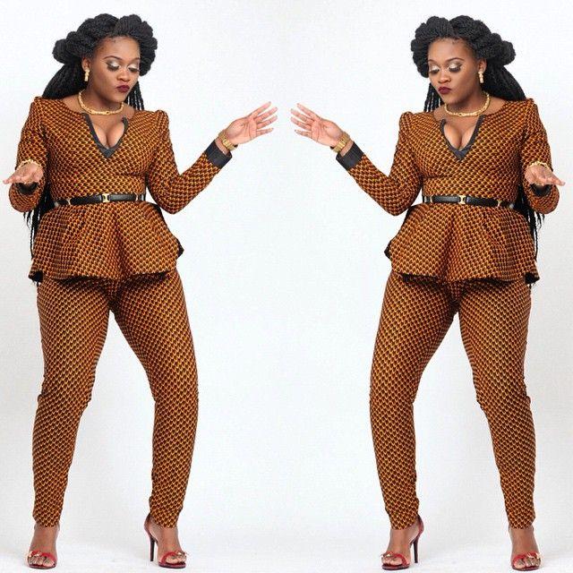 African print pants and peplum top set, african trouser, african print, african…                                                                                                                                                      Plus