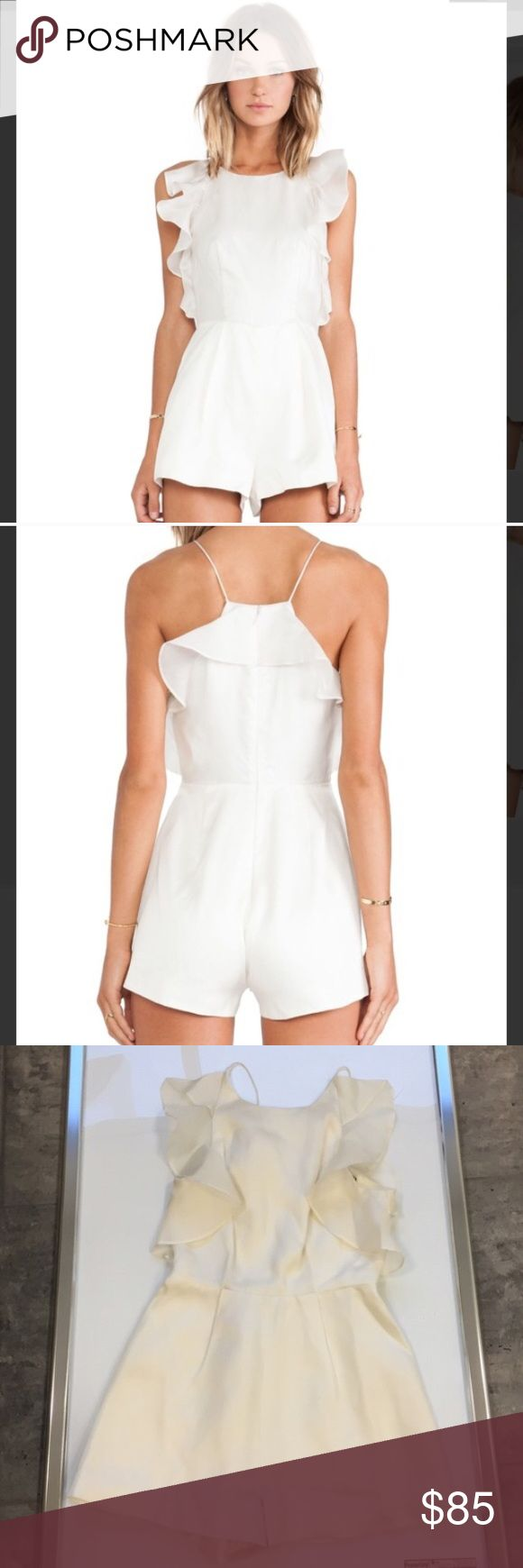 Keepsake The Label Falling For You Playsuit Romper Keepsake The Label Falling For You Playsuit Romper size small new without tags color is ivory white ...so cute and sold out everywhere from revolve Keepsake Pants Jumpsuits & Rompers