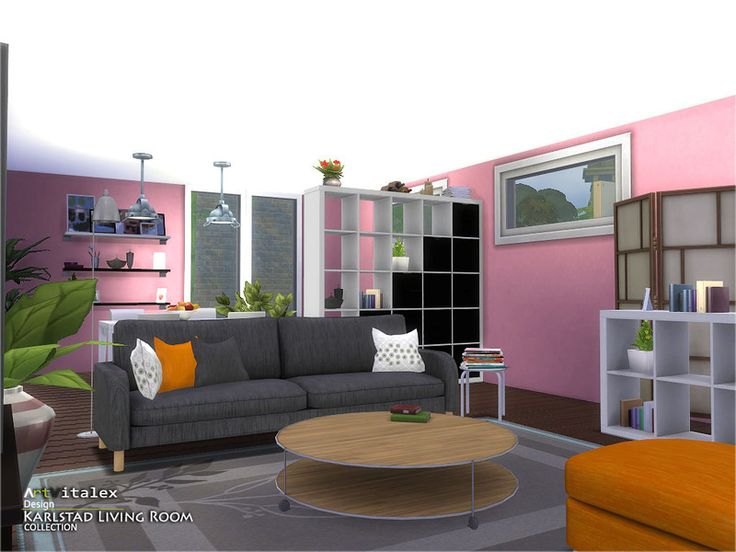 17 best images about sims 4 living room sets on pinterest for Living room sims 4