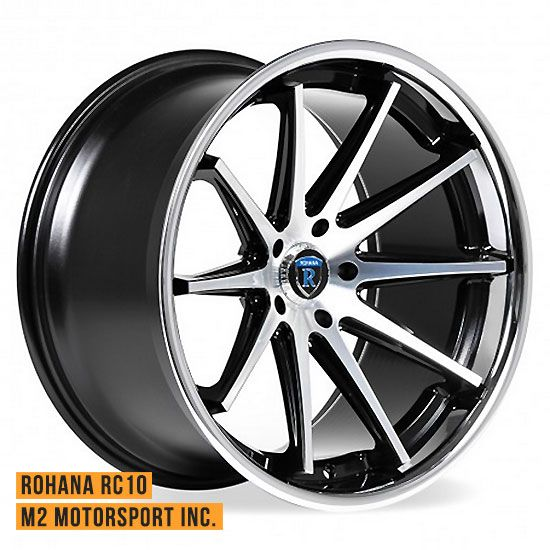 rohana rc machine black concave wheels       motorsport