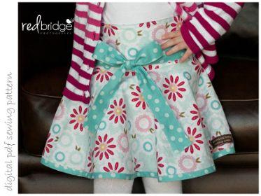 Ambrosia Skirt - Sizes 2 to 10 | Craftsy | digital pdf sewing pattern