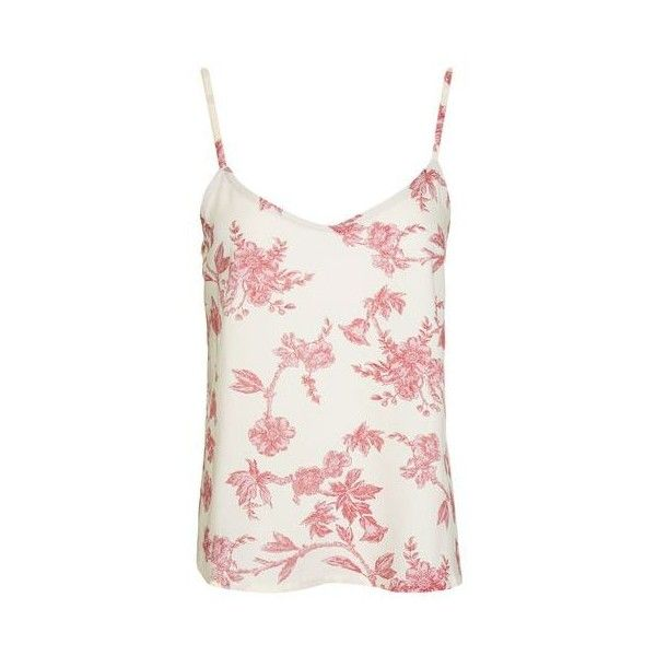 TopShop Wallpaper Pyjama Cami ($26) ❤ liked on Polyvore featuring intimates, sleepwear, pajamas, pink, pink camisole, camisole sleepwear, pink cami, pink sleepwear and pink pjs