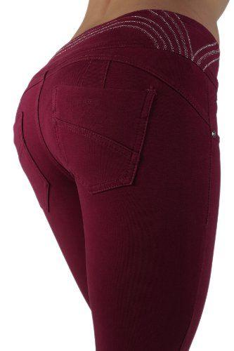 3034 - Brazilian Style Butt Lift, Levanta Cola, Fashion Moleton, Skinny Leg in Burgundy Size XXL U-Turn Jeans,http://www.amazon.com/dp/B00H9YJMK4/ref=cm_sw_r_pi_dp_kLiptb0JXNMMJNQA