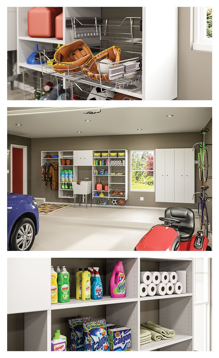 208 best garage workspace images on pinterest garage storage tame the clutter in your garage with totally customizable neuspace storage organize your sporting goods car supplies and seasonal items you design the