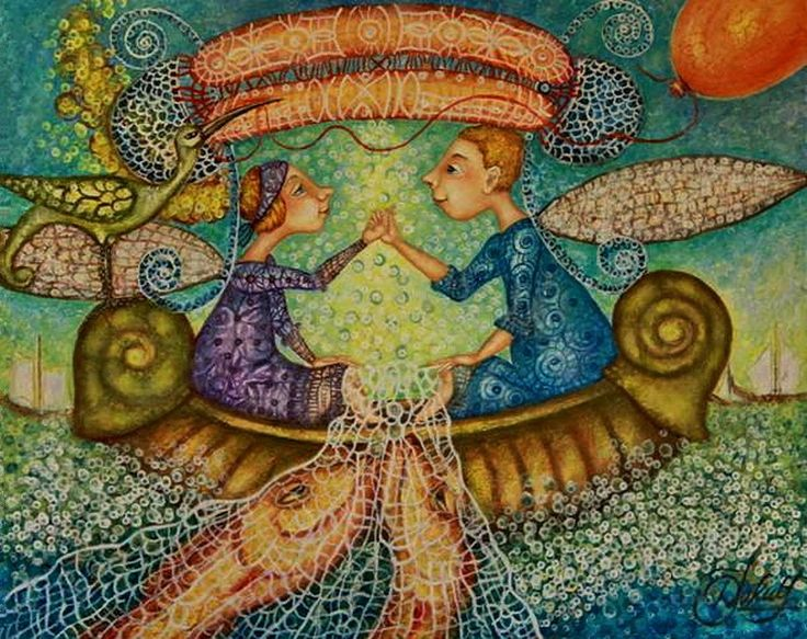 Счастье - это свойство характера... Художник Danguole Jokubaitiene