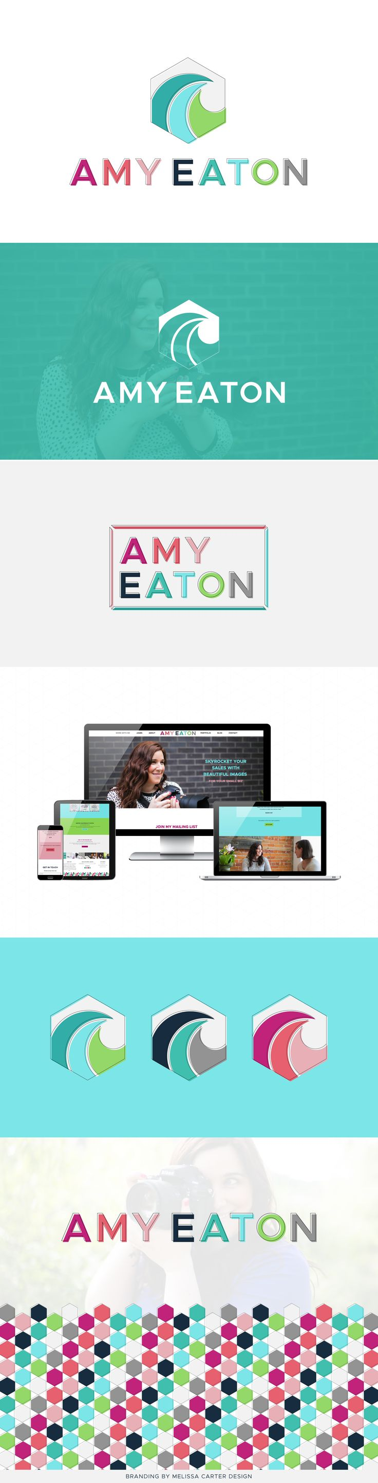 Branding and web design project by Melissa Carter Design for Amy Eaton Photography.