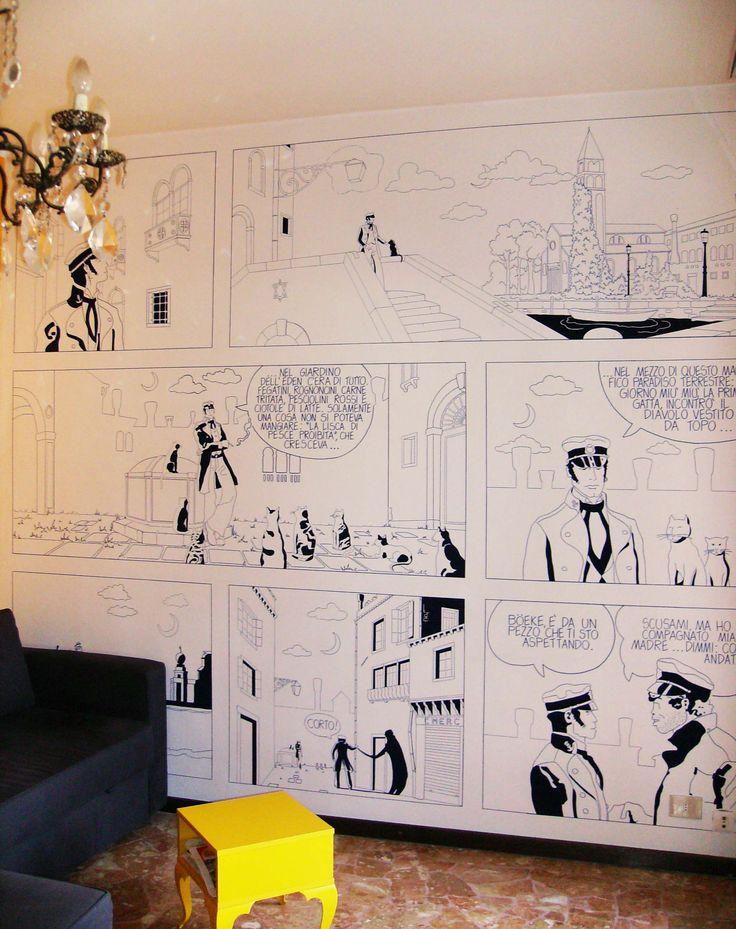 """[ Murale """"Corto Maltese"""", 2010, by Bettole d'Incanto  ] #Wall #Mural #Comics #Cortomaltese #BettoleDIncanto #Handmade"""
